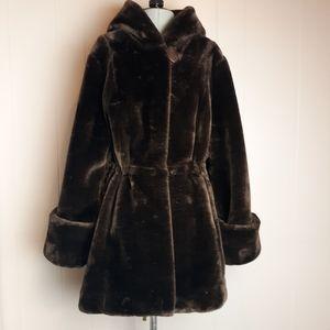 Dennis by Dennis Basso faux fur teddy long coat